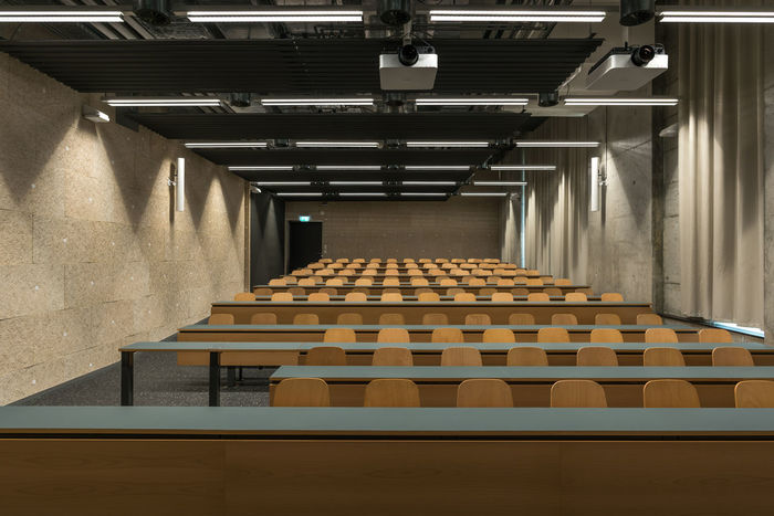 scool Light Student Life University Campus Wood Absence Architecture Auditorium Day In A Row Indoors  No People Scool Seats Switzerland University