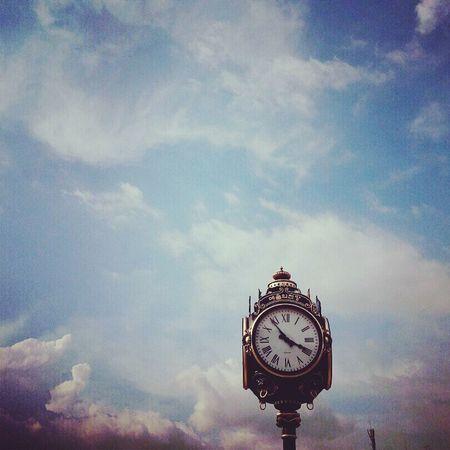 Clock Time Cloud And Sky Nice