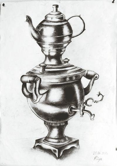 Drawing Love Tea Semaver