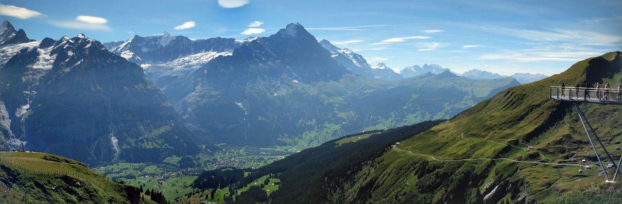 Switzerland, Mountain Tranquil Scene Mountain Range Panoramic Idyllic Majestic Valley Nature Tranquility