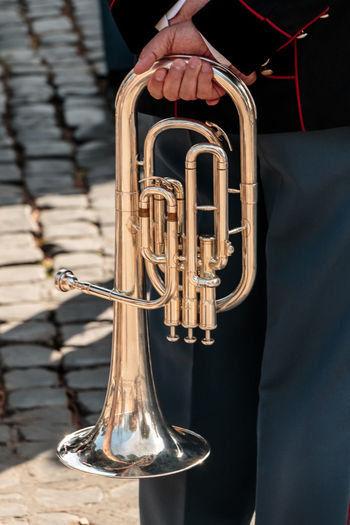 Republic Day Arts Culture And Entertainment Boys Brass Instrument  Close-up Day Gold Colored Human Hand Jazz Music Low Section Marching Band Men Midsection Music Musical Instrument Musician Outdoors People Performance Playing Real People Saxophone Trumpet Two People Well-dressed Wind Instrument