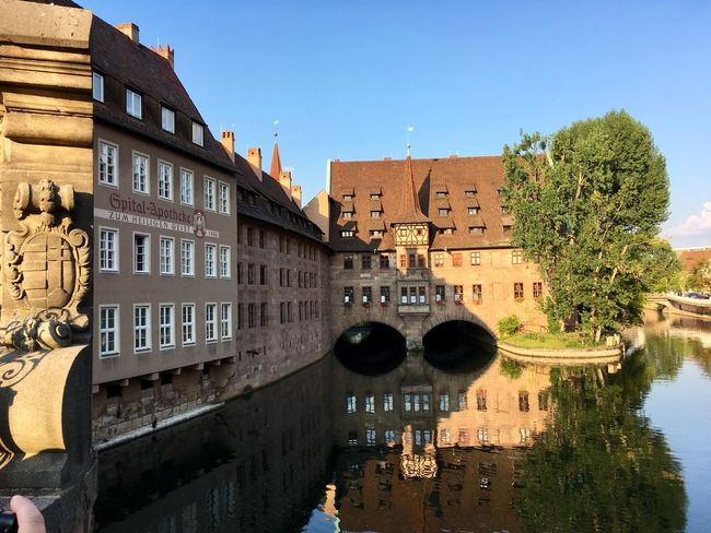 Once a showcase for a disastrous episode in European history. Now a lively and stylish rebuild city: Nürnberg. History Built Structure Sky Building Nature Travel Destinations Sunlight Outdoors