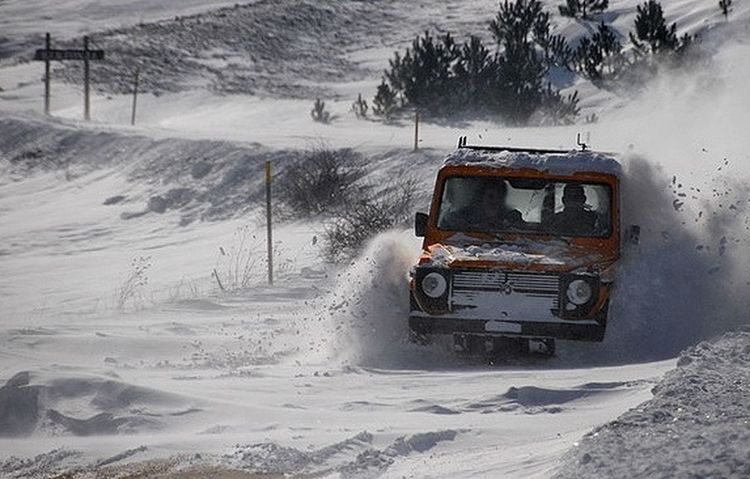 Winter Cold Temperature Snow Rural Scene Transportation Car Outdoors Nature Day Mercedes-Benz G Class Rescue Blidinje Herzegovina Hercegovina Shades Of Winter