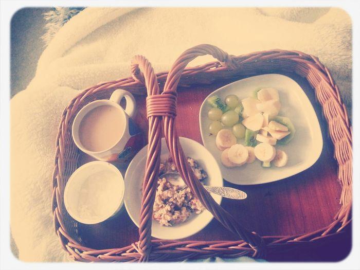 ..oh, what a lovely morning!:D Foodporn Breakfast ♥ Goodmorning :) Good_morning #enjoylife