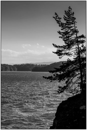 Solina, Polska Nature Sky No People Water Tranquility Cloud - Sky Outdoors Nikonphotography Clouds And Sky D7100 Nikon Sigma 18-35 F1.8 Sigma Sigma Lens Landscape B&w Blackandwhite Black And White Black & White Blackandwhite Photography Light And Shadow Nature Silence Moment Mountain