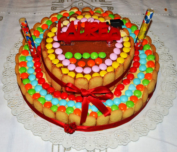 Baked Cake Celebration Close-up Degree Party Dessert Food Food And Drink Freshness High Angle View Indoors  Indulgence Multi Colored No People Party - Social Event Ready-to-eat Smarties Still Life Sweet Sweet Food Table Taste Good Temptation Unhealthy Eating