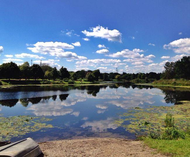 Reflections on the lake Lake Reflection Canoe