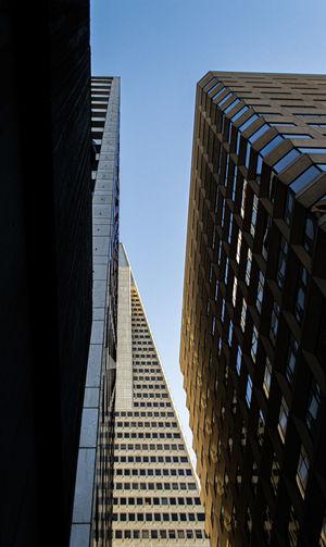Transamerican skyscraper low angle view