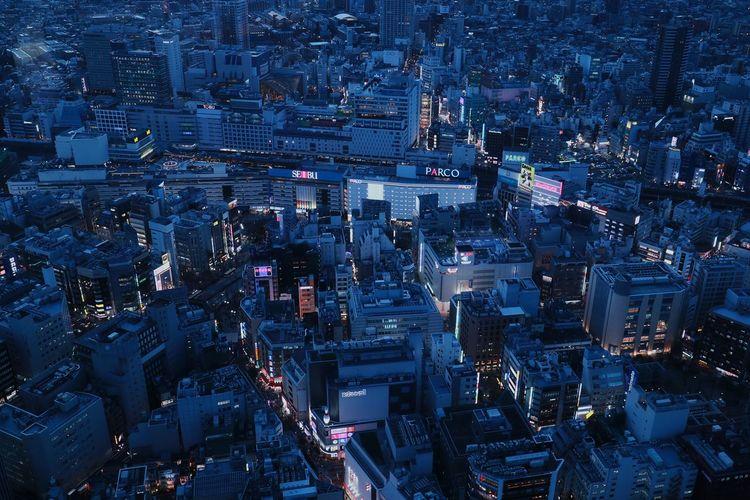 City Aerial View Night Cityscape Illuminated Skyscraper Landscape Urbanlandscape Tokyo Japan Cityscape Ikebukurostation Ikebukuro Nightphotography Nightview