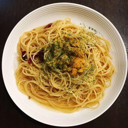 うにペペロンチーノ Sea Urchin Peperoncino ペペロンチーノ うに うに 雲丹 Spaghetti