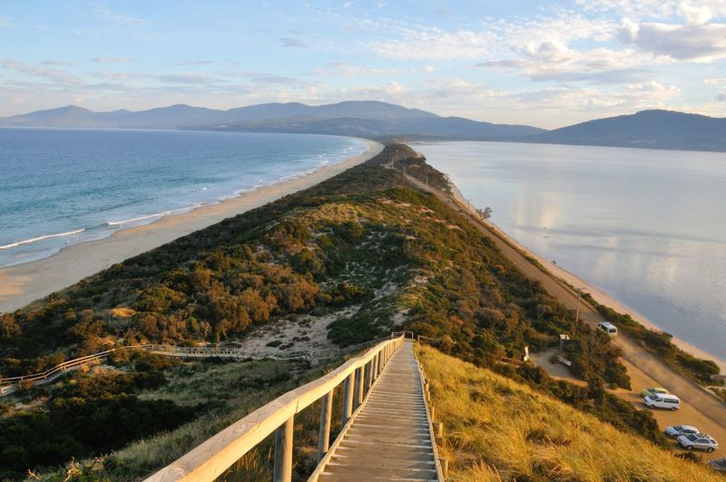 Bruny Island Day Island Mountain Ocean Outdoors Scenery Scenery Shots Sky Steps And Staircases Wide Angle