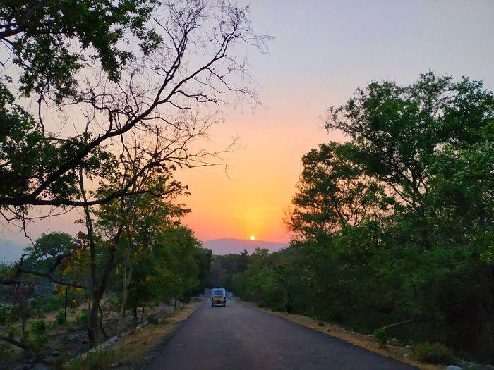 A sunset..