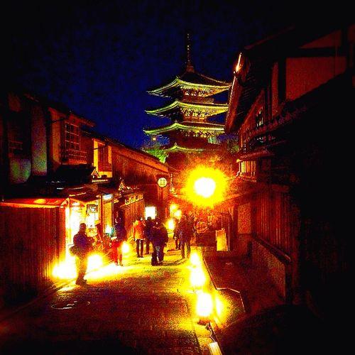 Kyoto Japan Yasaka-no-to Hanato-ro Higashiyama First Eyeem Photo 日本 八坂の塔 東山 花灯路