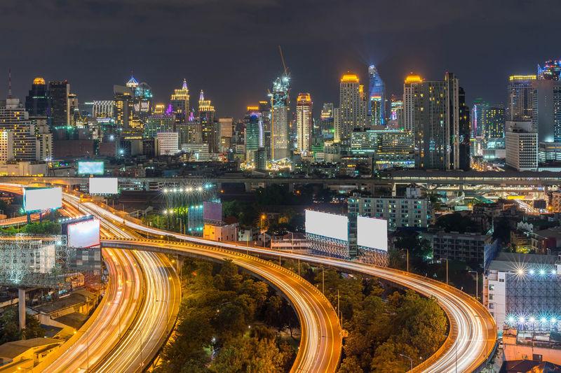 Night of the metropolitan bangkok city downtown cityscape urban skyline - cityscape bangkok thailand