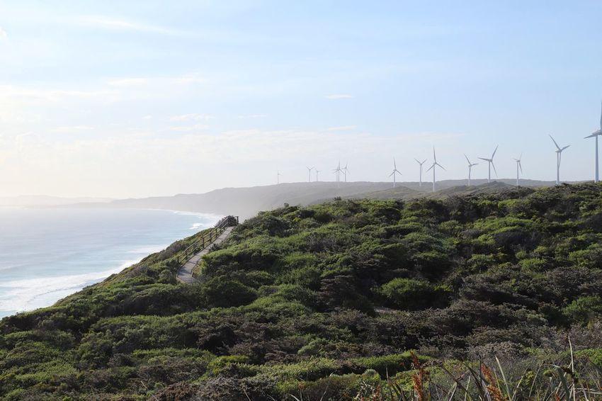 wind energy Coast Western Australia Australia Sky Environmental Conservation Fuel And Power Generation Scenics - Nature Renewable Energy Beauty In Nature Alternative Energy Wind Turbine Nature Sea Environment Wind Power Tranquility Tranquil Scene No People