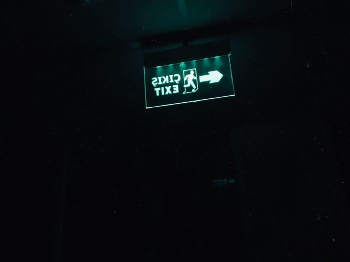 Istanbul Turkey Ex Summer Gece School Communication Illuminated Western Script Number Night Indoors  Text