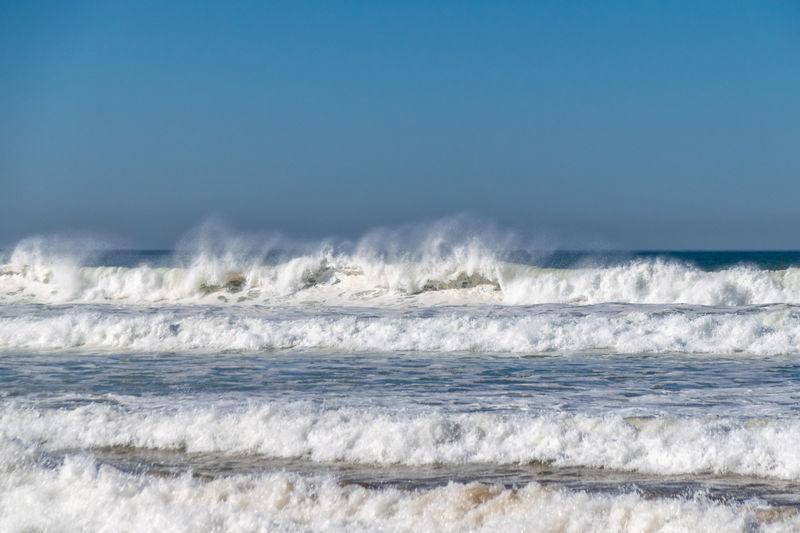 Breaking ocean sea waves