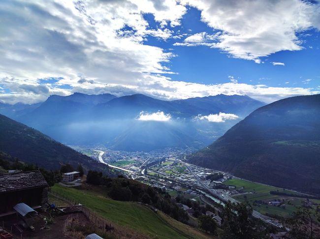 Visp Switzerland Swiss Switzerland❤️ Mountains Mountain Range Mountain Landscape Nature Beauty In Nature Cloud - Sky Cloud Clouds Nature Nature Photography