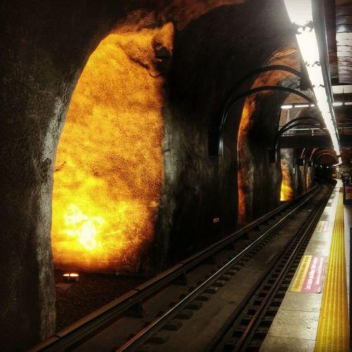 Riodejaneiro Metro Station Arcoverde Copacabana - Rio De Janeiro Subway Train Engineering Subte