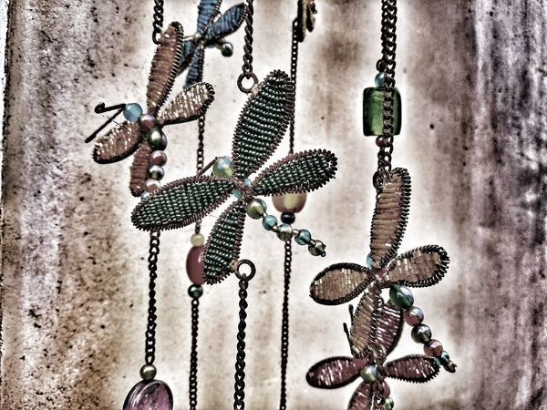 hanging chimes Butterfly Collection Special Effects Photoghaphy Ocean Beach, Ca Special Effects Special Effects Collection Chime Hanging Out Door Art Pattern Chain Textured  Close-up