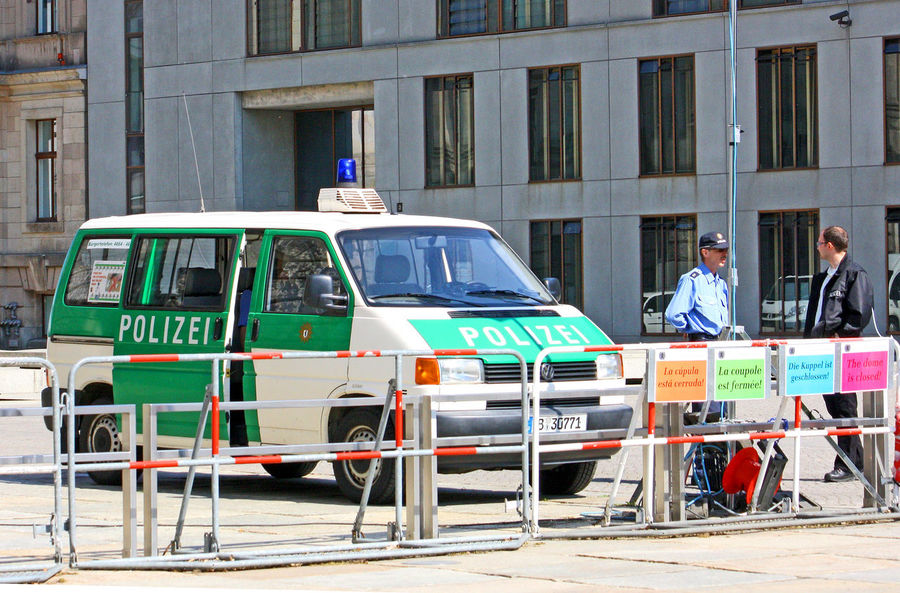 A Taste Of Berlin German Police Architecture Barricade Berlin Police Building Exterior Built Structure Day Men Mode Of Transport Occupation Outdoors People Police Van Real People Transportation Working #FREIHEITBERLIN