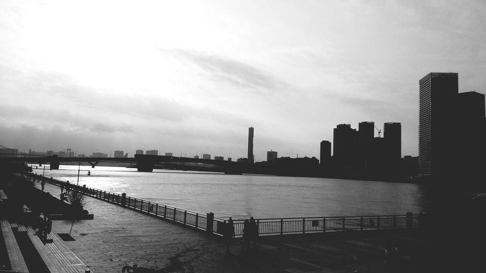 東京マラソンの後に立ち寄った豊洲公園