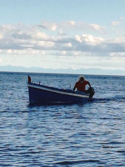 Stromboli Fisherman Sicile Sicilia Mediterranean Sea Mediterranean  Méditerranée Bateau De Pêche Bleu