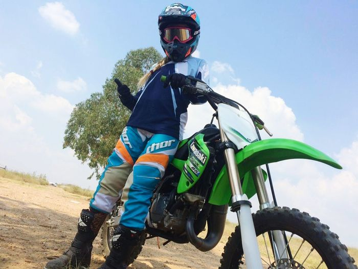 Me and my pink goggles and little KX 85 Dirtbikes Offroad Fun Weekends Active Lifestyle  Pushinglimits Trynewthings Kawasaki Kx85