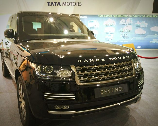 Armoured Range Rover Sentinel kept for display by TATA Motors at Defexpo India 2016 in Goa. Land Rover Rangerover Range Rover Range Rover Sentinel Armoured Vehicle Sentinel Black Suv Indian Army Defence Exposition Defence Expo Goa India Goa India Defexpogoa2016 Vehicle Exterior Automobile SUV Car Sparkling Tata Motors Public Display Defence Exposition Goa