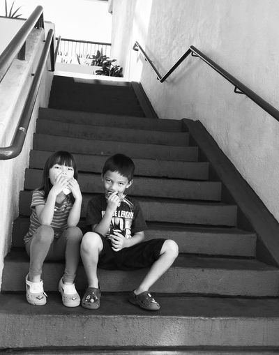 Caught in the act. Show Us Your Takeaway! Children Children Photography Blackandwhite Blackandwhite Photography Everyday Emotion