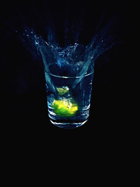 Night Black Background Studio Shot Refreshment Water Drink Motion Splashing No People Freshness Close-up Outdoors Day