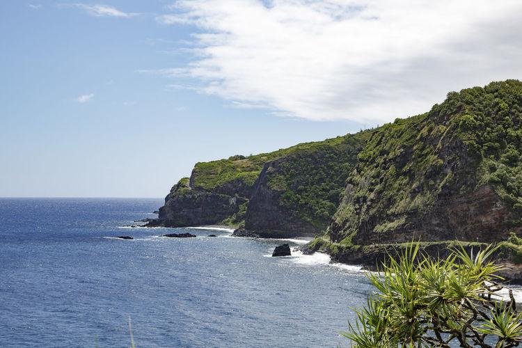 Blue Blue Sky Maui Nature Outdoors Road To Hana Scenery Scenics Sea Sky Water