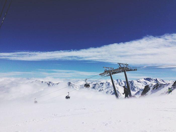 Skiing Clouds And Sky Winter Sölden Winter Wonderland Altitude