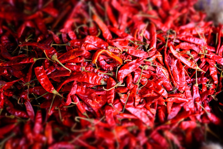Extreme Close Up Of Chilli Peppers