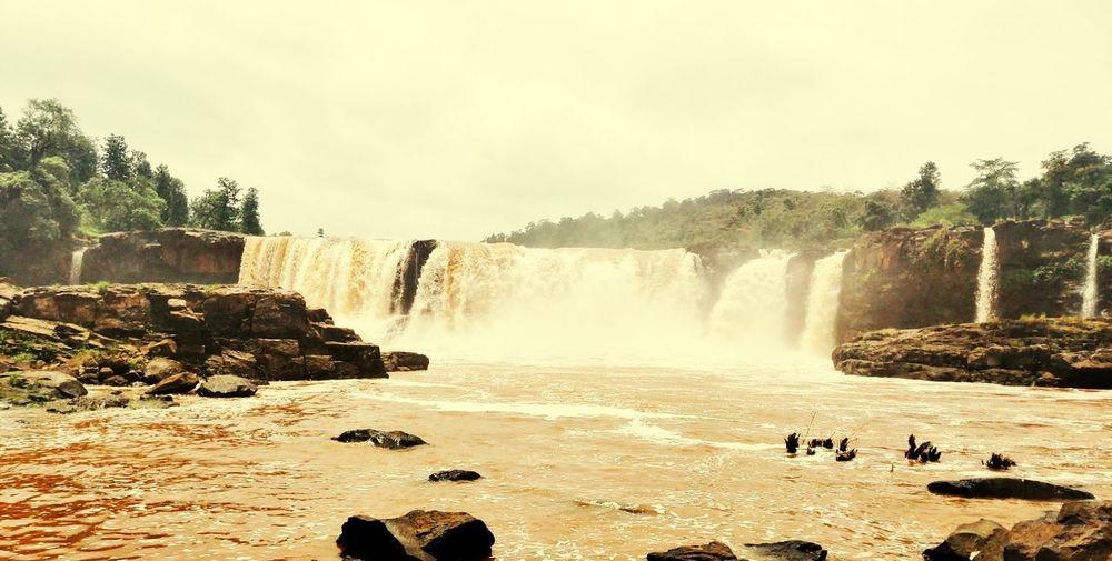 Narure in Love Water Spraying Motion Togetherness Tree Long Exposure Sky Waterfall Falling Water Splashing