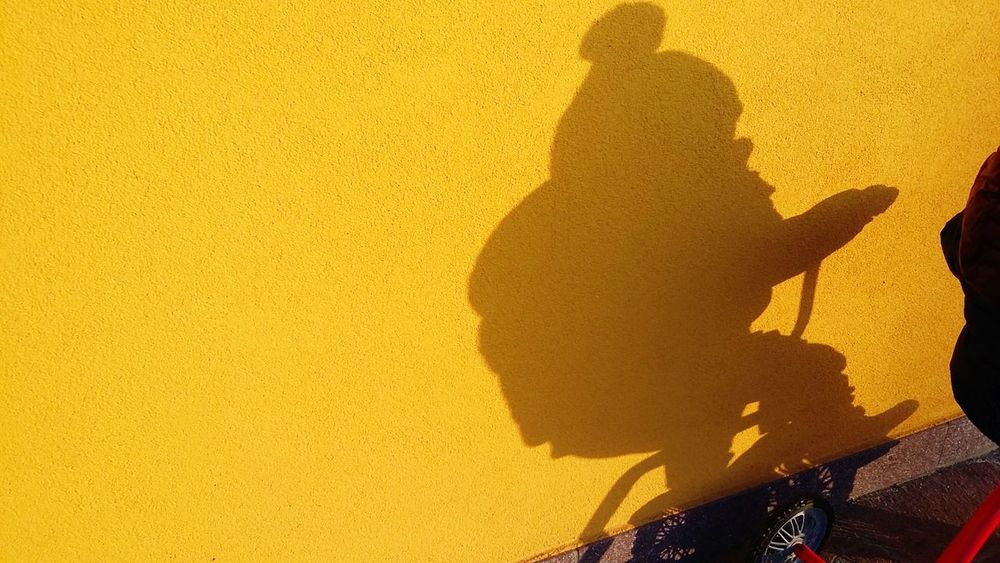 Paint The Town Yellow Silhouette Tricycle Shadow Outdoors Wool Hat Children Only