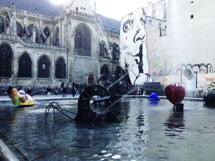 Igor Stravinsky fountain Architecture Art ArtWork Built Structure Centre Georges Pompidou Day Famous Place Fountain Fountains France Georges Pompidou  Igor Stravinsky Kinetic Outdoors Paris Sculptures Sight Sightseeing Travel Water Water Fountain