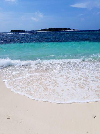 Water Wave Sea Beach Sand Blue Coconut Summer Heat - Temperature Sunny