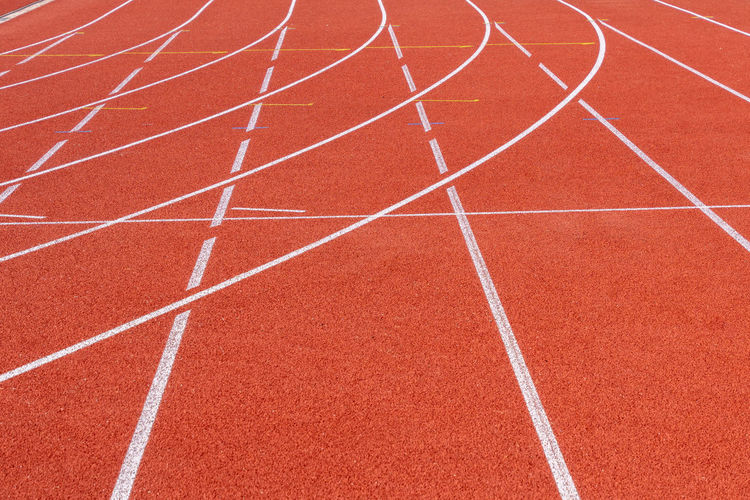Team Teamwork Team Sport Track And Field Running Track Sport Competition Sports Track Red Competitive Sport Sports Race Curve Running No People Stadium Outdoors In A Row Single Line Exercising Day Track Event Sports Venue Dividing Line