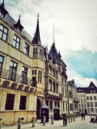 Luxembourg Building Vintage Europe Palais Grand-Ducal