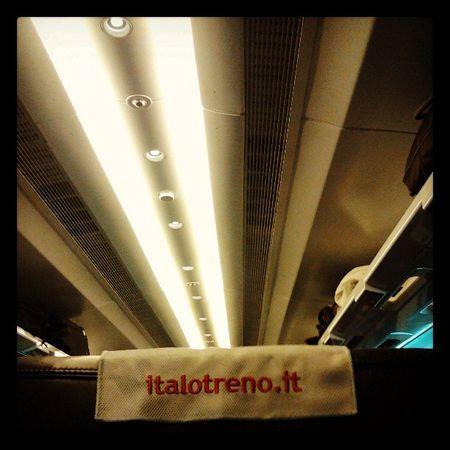 Su Italo di ritorna da Milano per lavoro (fa figo dirlo) 77of365 2013 aphotoaday iliketrains train light