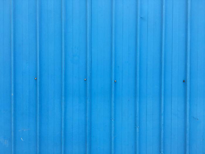 Full frame shot of blue fence
