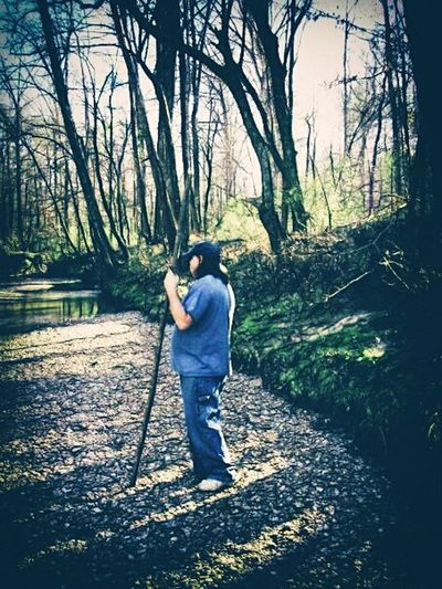 Break The Mold One Person Standing Outdoors Men Nature Country Trees Photo Art Contemplative Looking For Inspiration Creek Bank
