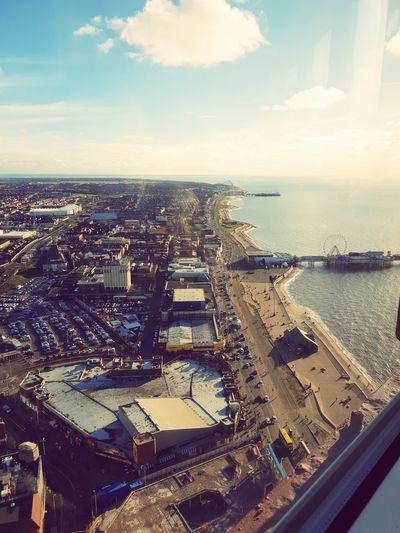 view from. top of Blackpool tower EyeEm Best Shots Eye4photography  Eyeemphotography Eye For Photography City Skyscraper Sky Horizon Over Water Cloud - Sky Shore Scenics Idyllic