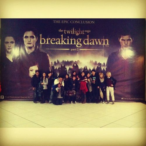 the movie daaay Dcuopenday Twilight Breakingdawn Cineworld @claralouisa @thejayr @reiiling @ultimoo @leelala818 @ayesalozada