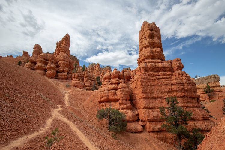 Red Canyon in Utah, USA - the smaller brother of the world famous Bryce Canyon Cloud - Sky Non-urban Scene Beauty In Nature Scenics - Nature Tranquil Scene Red Canyon Red Canyon State Park, Utah USA National Park Rock Formation Rock - Object Rock Travel Destinations Geology Solid Physical Geography Environment Landscape Travel Day Arid Climate Climate Outdoors Eroded Semi-arid