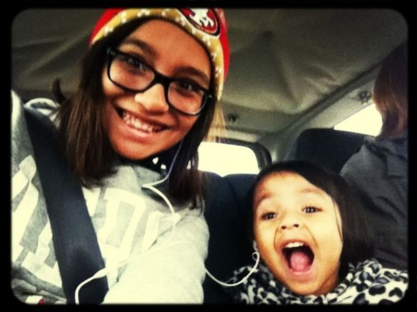 My Sister And Me Acting Funny !! :D