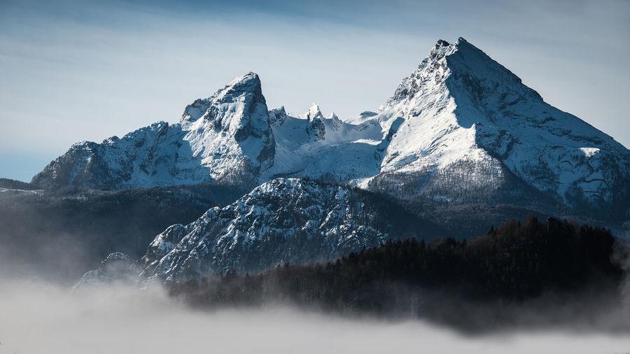 watzmann Bavaria Bayern Beauty Beauty In Nature Day Germany Glacier Hiking Landscape Mountain Mountain Peak Mountain Range Nature No People Outdoors Schwarzvoraugen Sky Snow Snowcapped Mountain Watzmann
