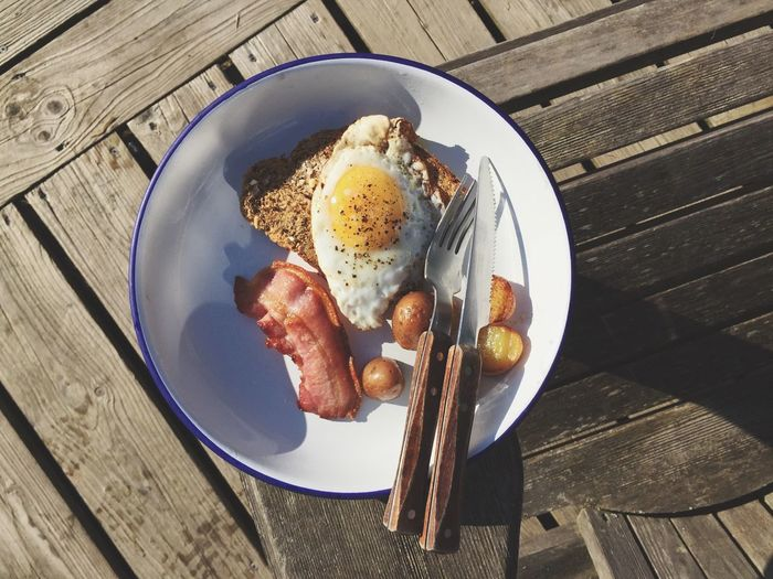 IPhone Breakfast Food And Drink Food Outdoor Camp Camping Healthy Eating Table Plate Directly Above Freshness Ready-to-eat Indulgence Meal Appetizer Serving Size Temptation Egg Toast🍞 Bacon Plate