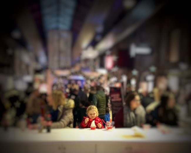 This moment is about yoghurt. Nothing else. Toddler  Treats Yoghurt Toy Representation Indoors  Human Representation Focus On Foreground Incidental People Childhood Selective Focus Creativity Close-up Architecture Fun Small People A New Perspective On Life Moments Of Happiness